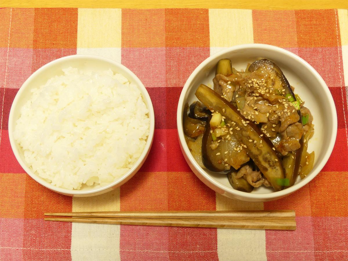 豚肉とナスのオイスターソース炒め